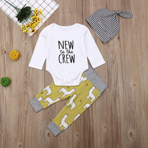 New to the Crew - Lama | 3 piece Baby outfit