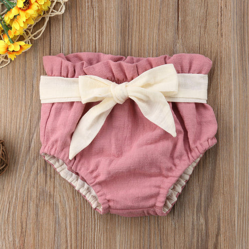 Bowknot Bloomers | Girls Nappy Cover
