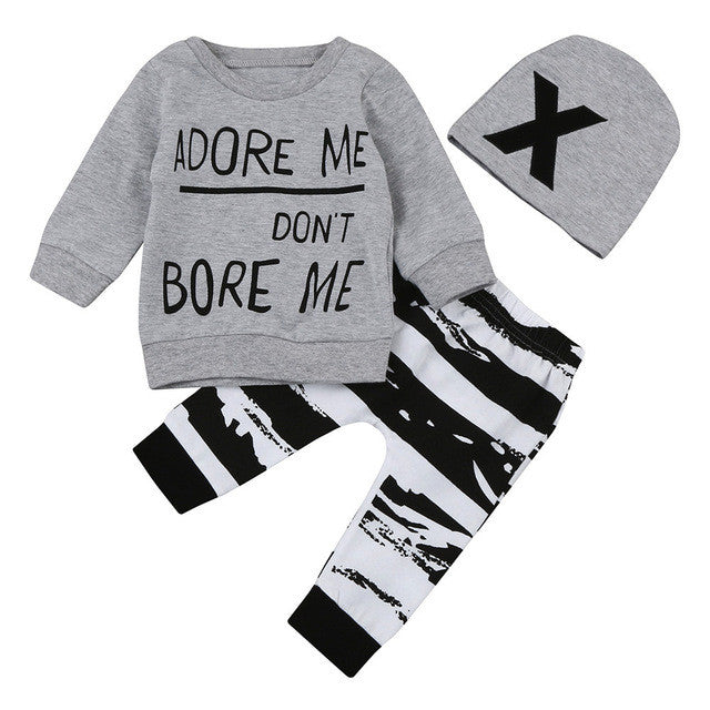 Baby outfit | Don't Bore Me matching 3 piece