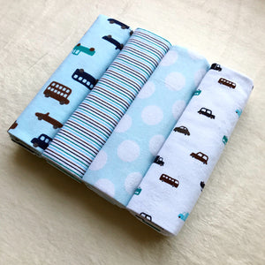 Baby blankets | 4 pack flannel - many colour options