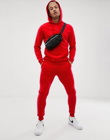 Red Plain Tracksuit