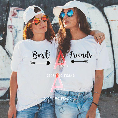 Pack Of 2 Best Friends Half Sleeves Customize T-shirt