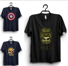 Pack Of Three Super Heros Half Sleeves T-shirts