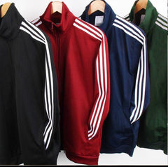 Side Striped Fleece Jacket