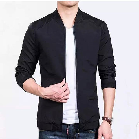 Black Bomber Cotton Jacket
