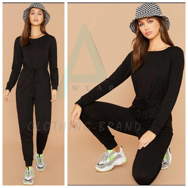 Black Summer Plain Tracksuit