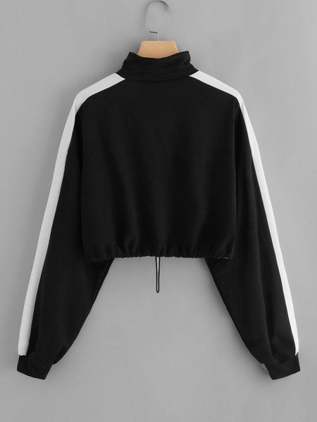 Black Stylish High Neck