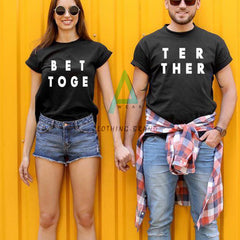 Pack Of 2 Couple Half Sleeves Customize T-shirt