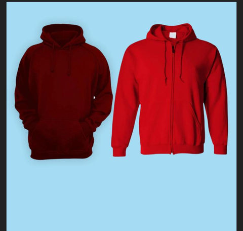 Bundle Of 2 Plain Hoodies