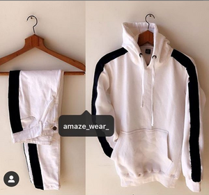 White Side Striped Tracksuit