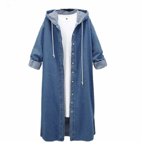 Women's Denim Long Coat