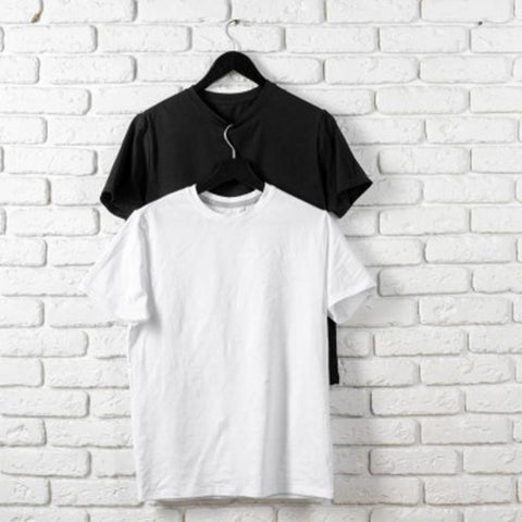 Pack of 2 (Black&white) Half Sleeves T-shirts