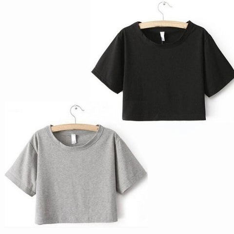 Pack of 2 Half Sleeves Crop T-shirts