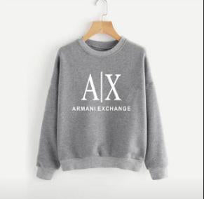 Grey Armani Exchange Printed Sweatshirt