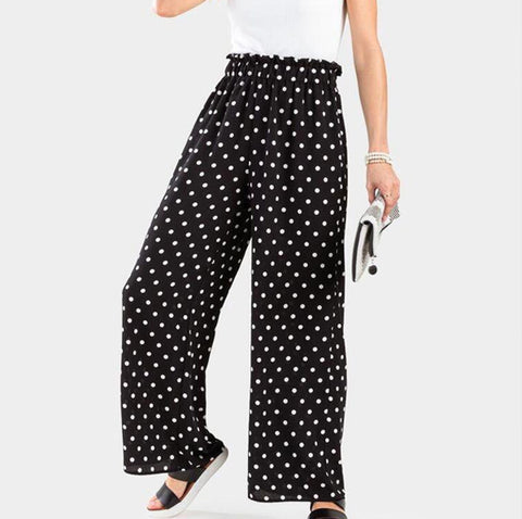 Black Polka Dotted Trouser