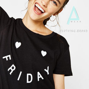 Black Half Sleeves Friday Customize T-shirt