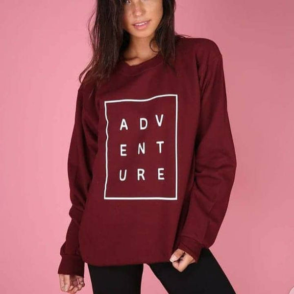 Red Printed Sweatshirt