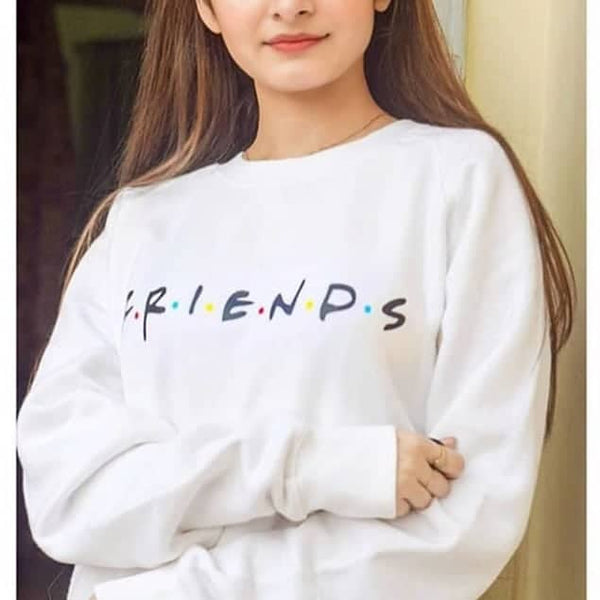 White Printed Sweatshirt