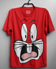 Red Half Sleeves Bugsbunny Printed T-shirt