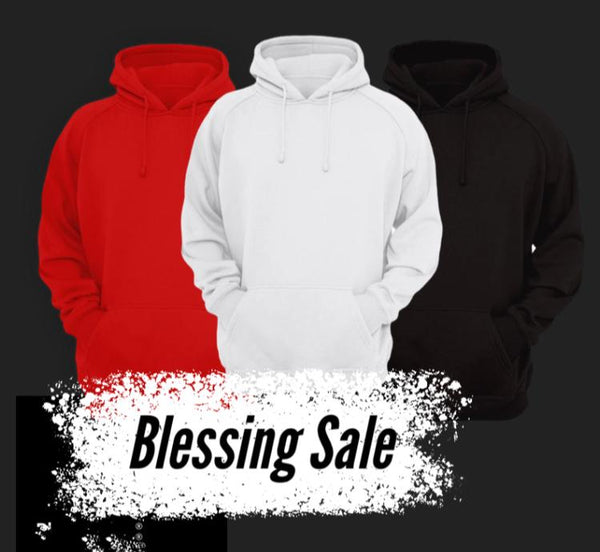 Bundle Of 3 Plain Hoodies
