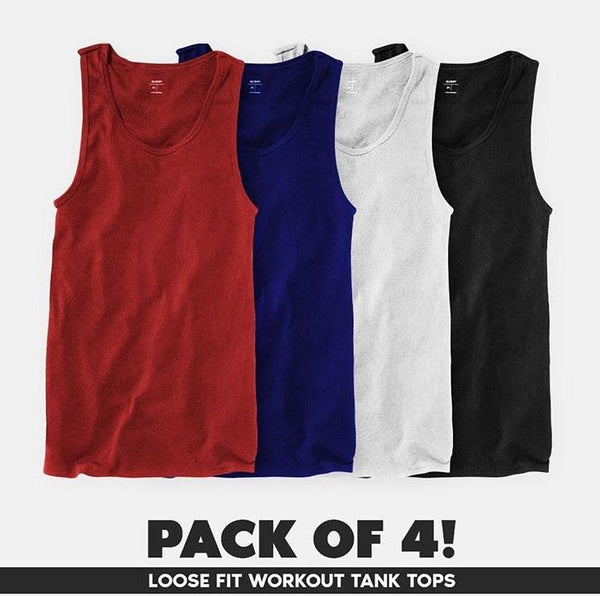 Pack Of 4 Gym Plain Sando For Mens