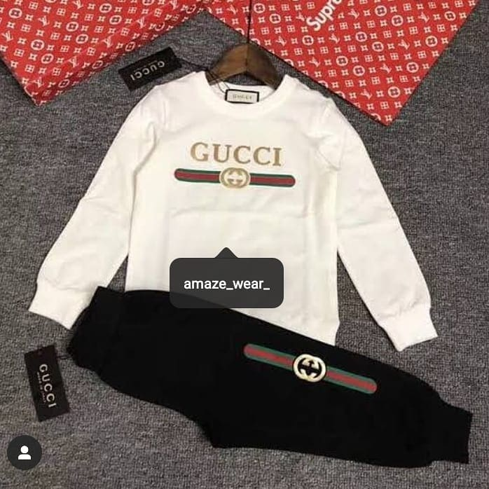 White Gucci Printed Tracksuit