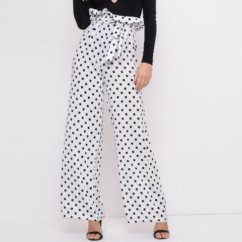 White Polka Dotted Trouser