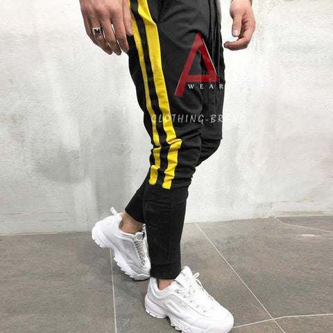 Men's Black Yellow Stripes Stylish Trouser