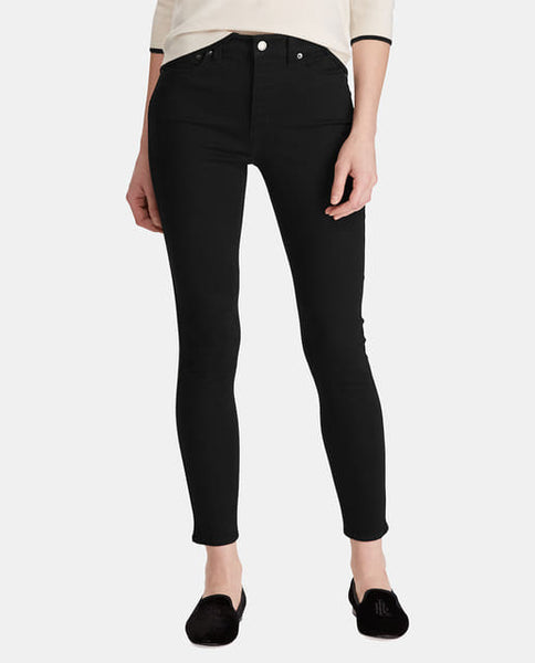 Black Plain Stretchable Jeans