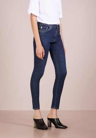Navy Blue Plain Stretchable Jeans
