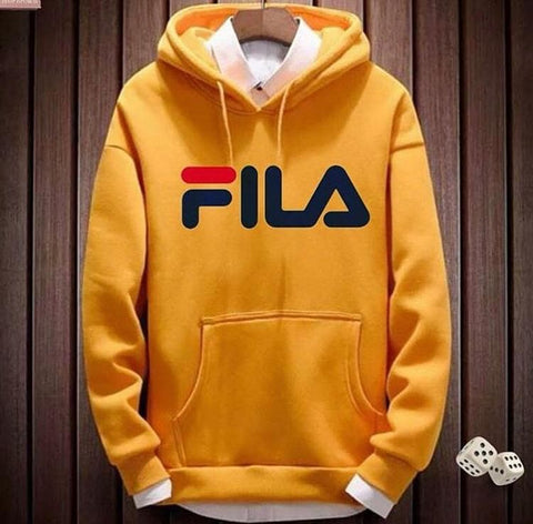 Yellow Fila Printed Hood