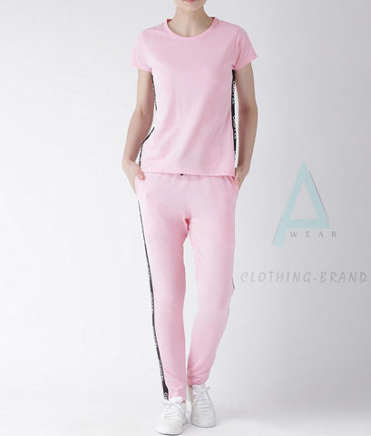 Baby Pink Summer Stylish Tracksuit