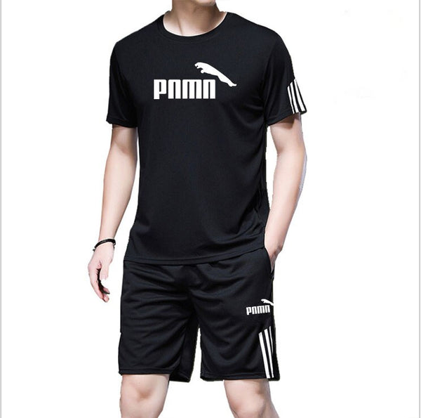 Black T-shirt And Short Puma Summer Set