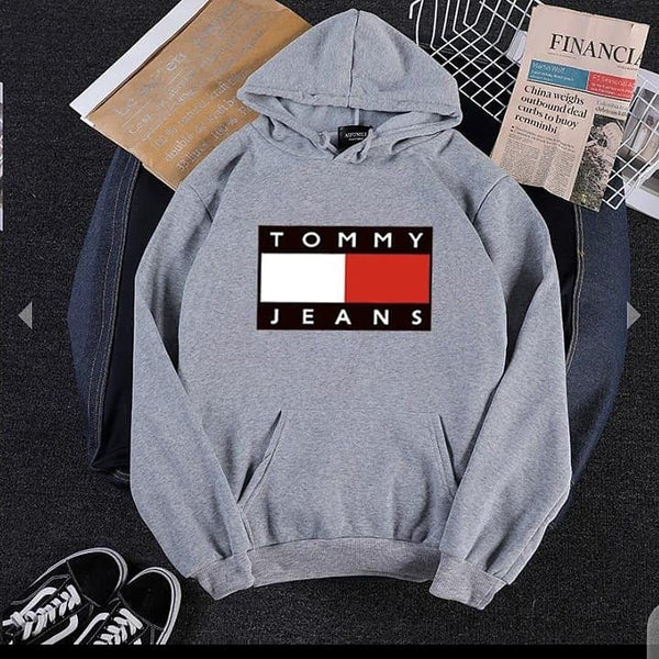 Grey Tommy Jeans Hood