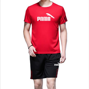 Red T-shirt And Trouser Puma Summer Set