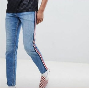 Light Blue Tommy Jeans Striped Jeans
