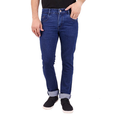 Navy Blue Plain Jeans