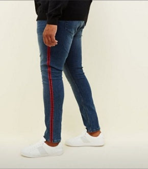Navy Blue Side Striped Jeans