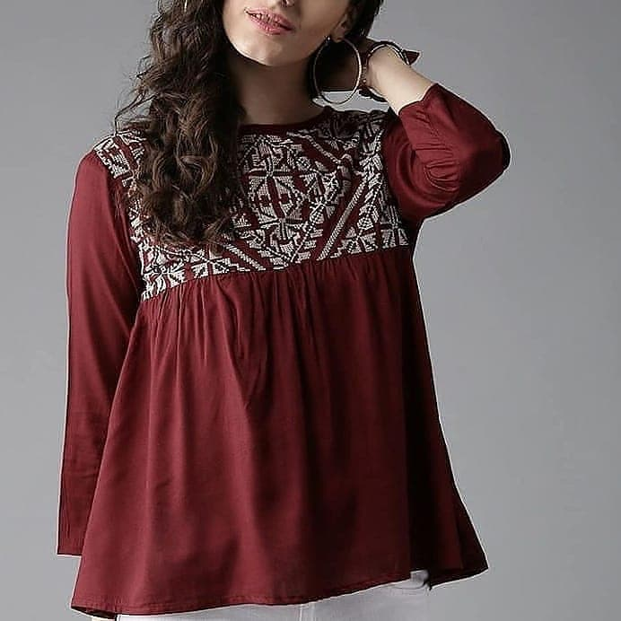 Maroon Short Top