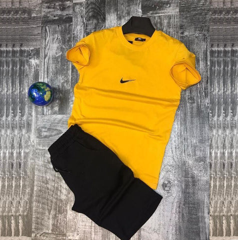 Yellow And Black Summer Tracksuit