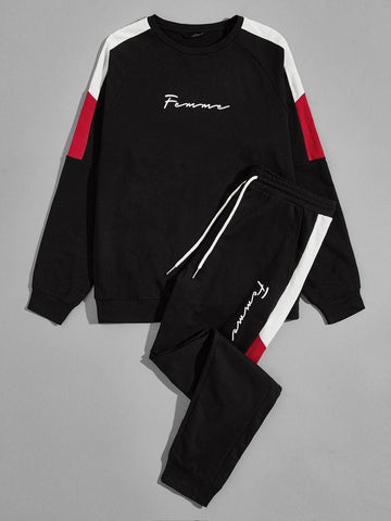 Black Summer Striped Tracksuit