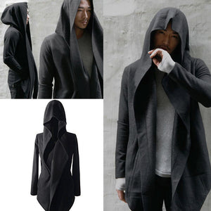 Charcoal Long Fleece Coat For Men's