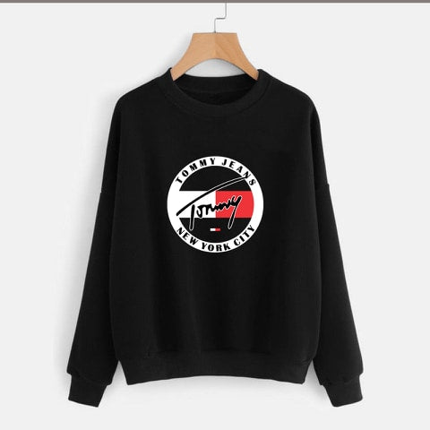 Black Tommy Jeans Printed Sweatshirt