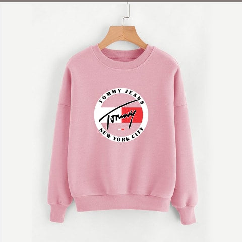 Baby Pink Tommy Jeans Printed Sweatshirt