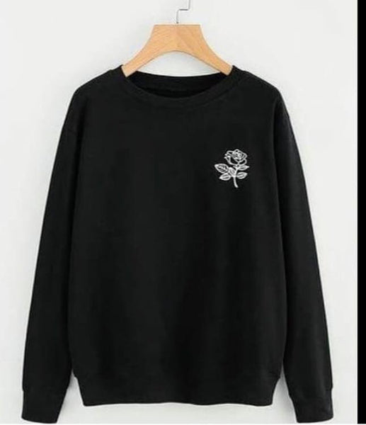Black Rose Printed Sweatshirt