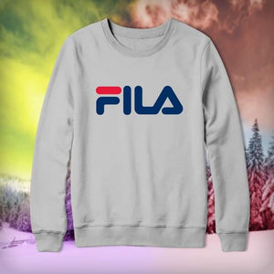 Grey Fila Printed Sweatshirt
