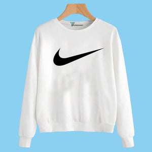 White Nike Printed Sweatshirt