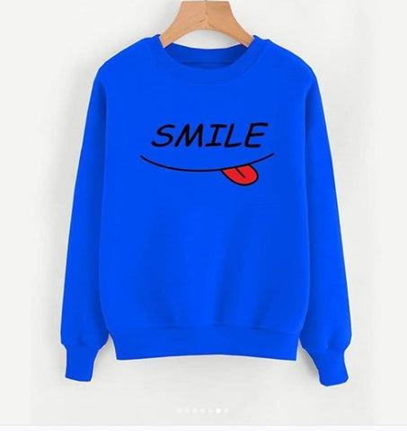 Light Blue Printed Sweatshirt