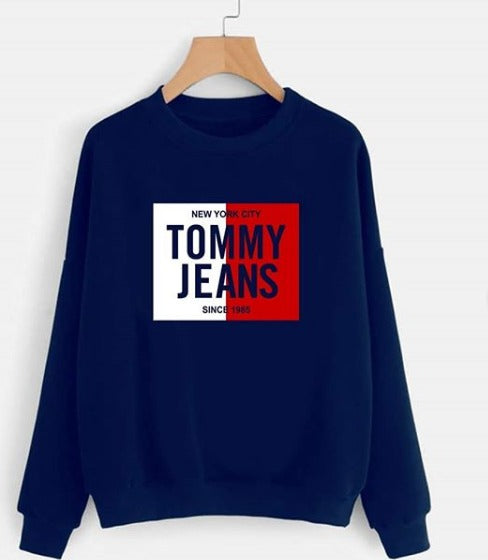 Navy Blue Tommy Jeans Printed Sweatshirt