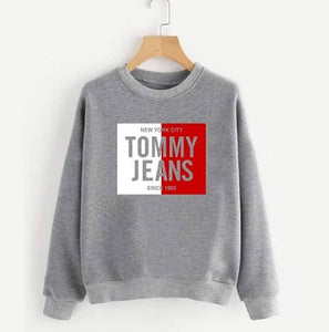 Grey Tommy Jeans Printed Sweatshirt